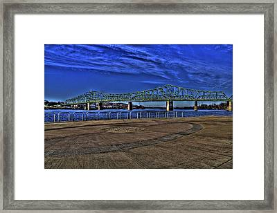 Framed Print featuring the photograph Parkersburg Point Park by Jonny D