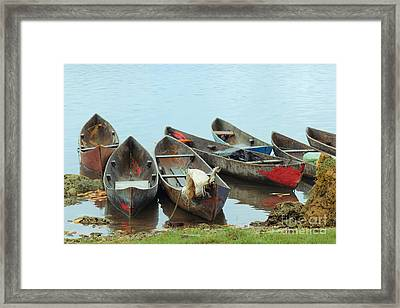 Parking Boats Framed Print by Jola Martysz