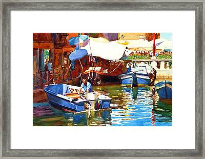Parking In Venice Framed Print by Graham Berry