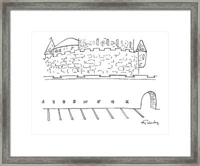 Parking Lot Outside Of A Castle. The Parking Framed Print by Mike Twohy
