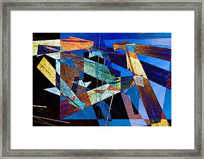 Parking Lot Pavement Arrows No.12 Framed Print