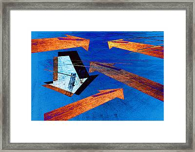 Parking Lot Pavement Arrows No.22 Framed Print