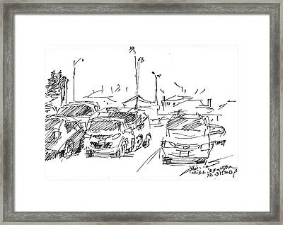 Parking Lot  Framed Print by Ylli Haruni