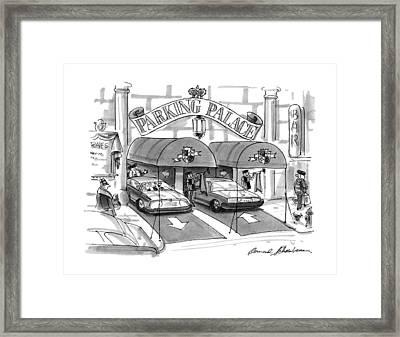 'parking Palace' Framed Print