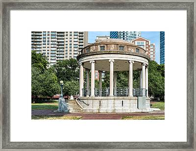 Parkman Bandstand In Boston Public Garden Framed Print by Boris Mordukhayev