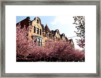 Framed Print featuring the photograph Philadelphia Parkside  by Christopher Woods