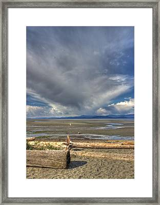 Parksville Beach - Low Tide Framed Print by Randy Hall