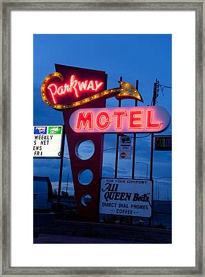 Parkway Motel Framed Print by Matthew Bamberg