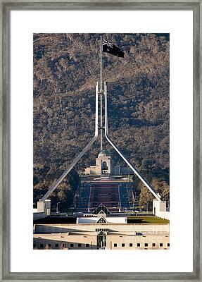 Parliament And War Memorial Australia Framed Print