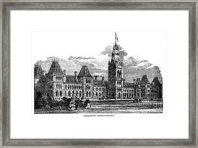 Parliament Building - Ottawa - 1878 Framed Print