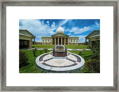 Parliament Building Of Palau Framed Print by Michael Runkel