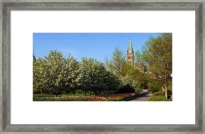 Parliament Building Seen From A Garden Framed Print