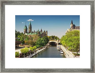 Parliament Building With Peace Tower Framed Print