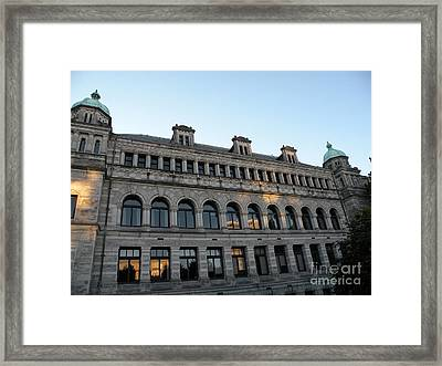 Parliament Buildings Framed Print by Val Carosella