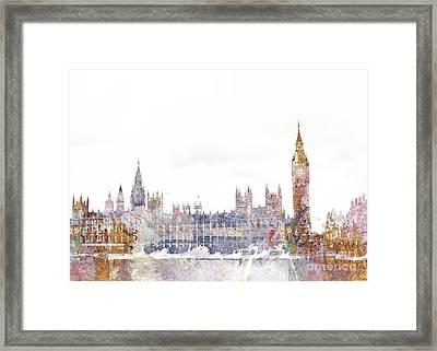 Parliament Color Splash Framed Print