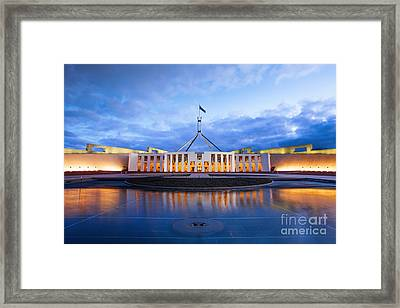 Parliament House Canberra Australia Framed Print by Colin and Linda McKie