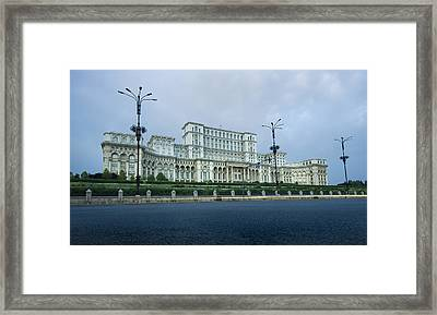 Parliament In Bucharest Framed Print by Ioan Panaite