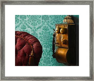 Parlor Phone Framed Print