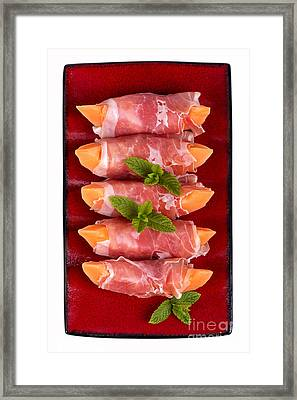 Parma Ham And Melon Framed Print by Jane Rix