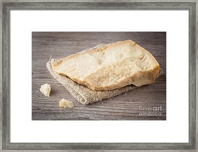 Parmesan Cheese Framed Print by Sabino Parente