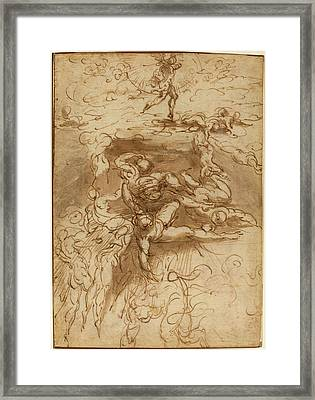Parmigianino Italian, 1503 - 1540, The Fall Of The Rebel Framed Print by Quint Lox