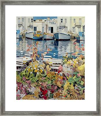 Paros Framed Print by Jeremy Annett