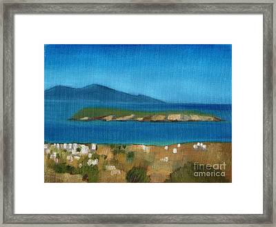 Paros Plain Air Framed Print by Kostas Koutsoukanidis