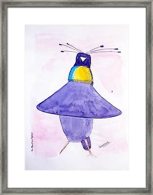 Parotia Dancing - Bird Of Paradise Framed Print