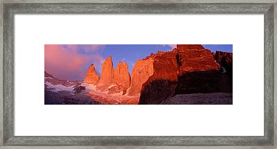 Parque National Torres Del Paine Framed Print by Panoramic Images