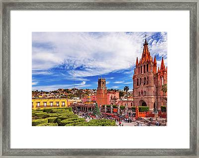 Parroquia Archangel Church, Jardin Town Framed Print
