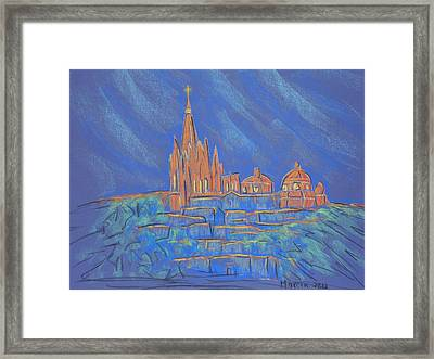 Parroquia From Below Framed Print by Marcia Meade