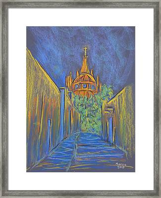 Parroquia From The Back Framed Print by Marcia Meade