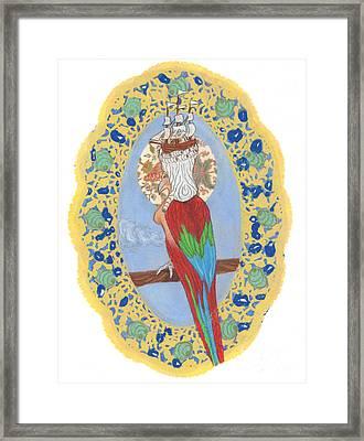 Parrot Girl Framed Print