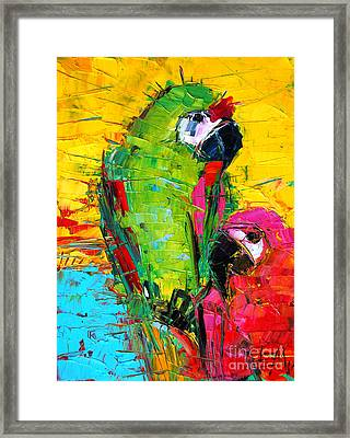 Parrot Lovers Framed Print by Mona Edulesco