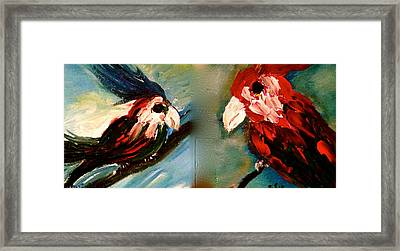 Parrots Framed Print by Pretchill Smith