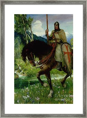 Parsifal In Quest Of The Holy Grail Framed Print by Ferdinand Leeke