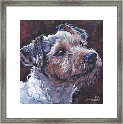 Parson Russell Terrier Framed Print by Lee Ann Shepard