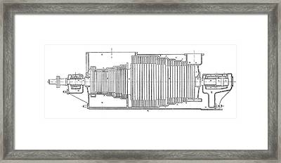 Parsons Marine Turbine Framed Print by Science Photo Library