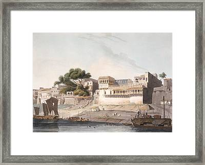 Part Of The City Of Patna, On The River Framed Print by Thomas Daniell