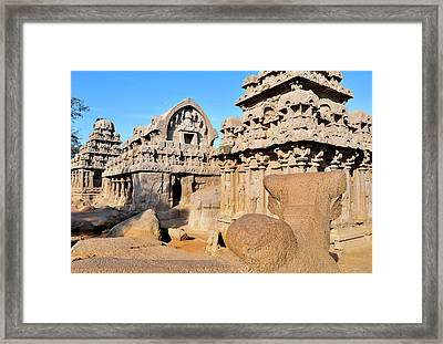 Part Of The Five Rathas Complex Framed Print by Steve Roxbury