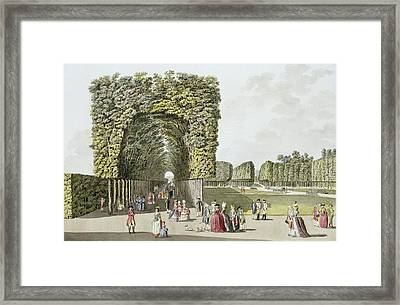 Part Of The Garden At Ausgarten Framed Print by Johann Ziegler