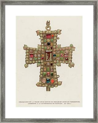 Part Of The True Cross On  Which Jesus Framed Print