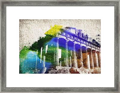 Parthenon Framed Print by Aged Pixel