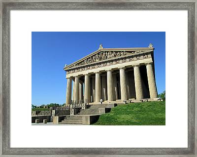 Parthenon At Nashville  Framed Print