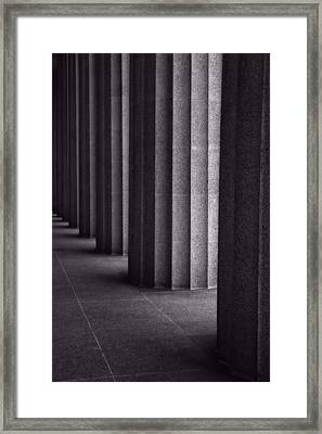 Black And White Columns Framed Print by Dan Sproul