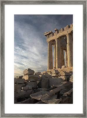 Parthenon From The South Framed Print by Ellen Henneke