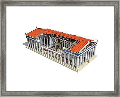 Parthenon Framed Print by Jose Antonio Pe�as