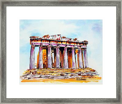 Parthenon Framed Print by Maria Barry