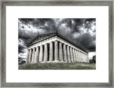 Parthenon Of Nashville Framed Print by Honour Hall