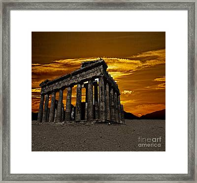 Parthenon Framed Print by Shirley Mangini